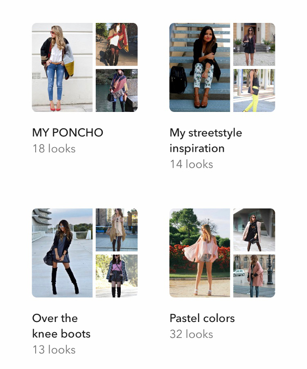 Albums in Chicisimo outfit planning app