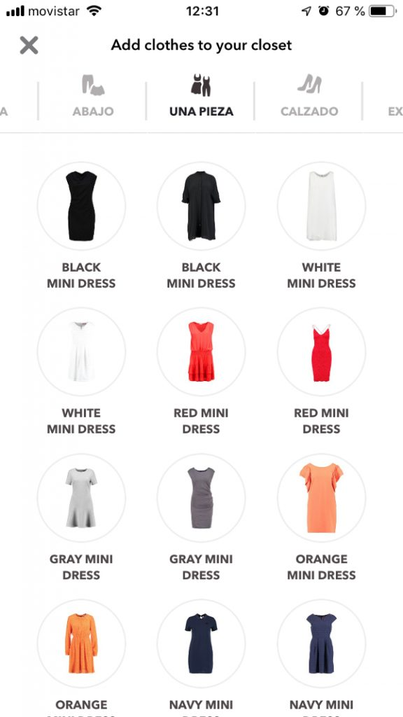 Catalog in Chicisimo outfit planning app