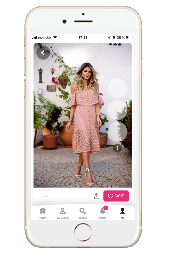 Outfit for being the perfect wedding guest with skater dress in pink, from Chicisimo outfit planning app