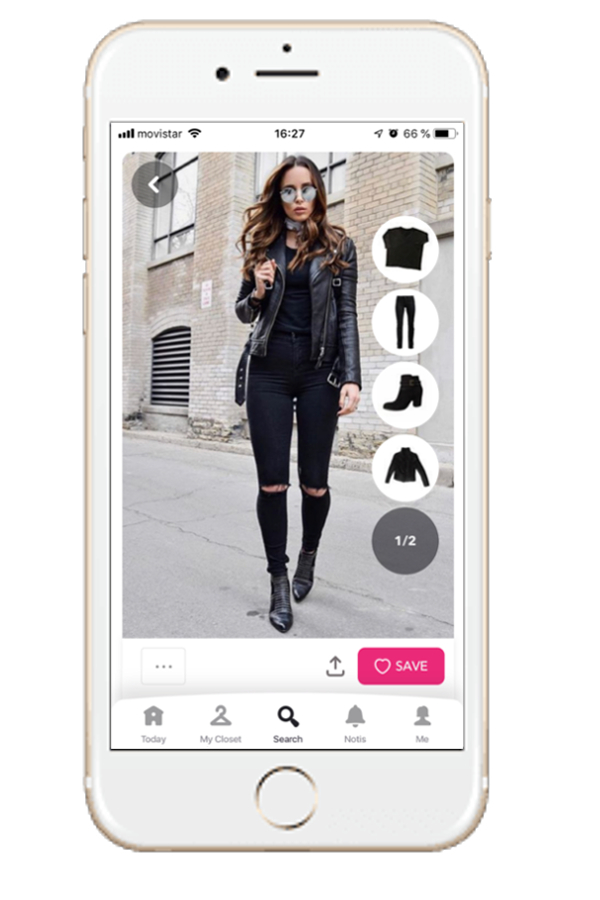 Outfit in black with black jacket, pants and boots, Chicisimo outfit planning app.