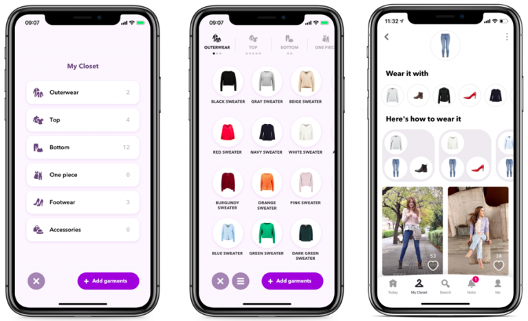 use a closet in the most effective manner: with an outfit planner app