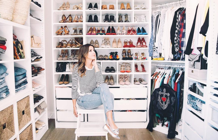 use a closet in the most effective manner: organized by category