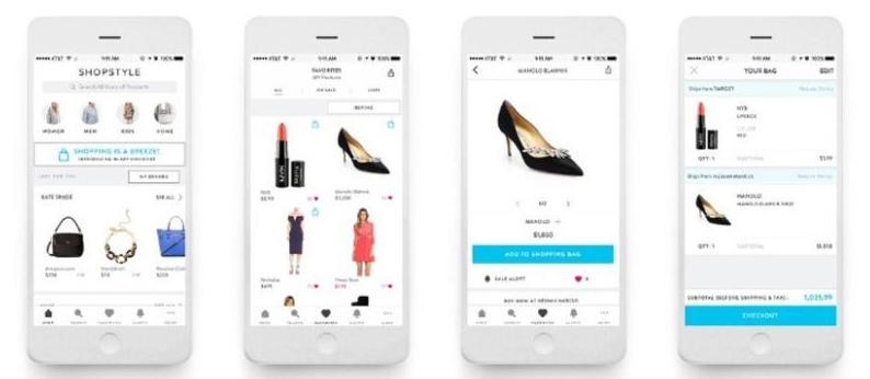 shopstyle fashion app  - one of the best fashion apps