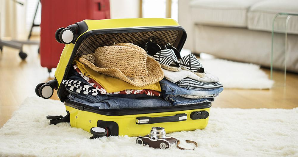 Decide by place what goes into your suitcase - How to prepare the perfect suitcase for your vacations