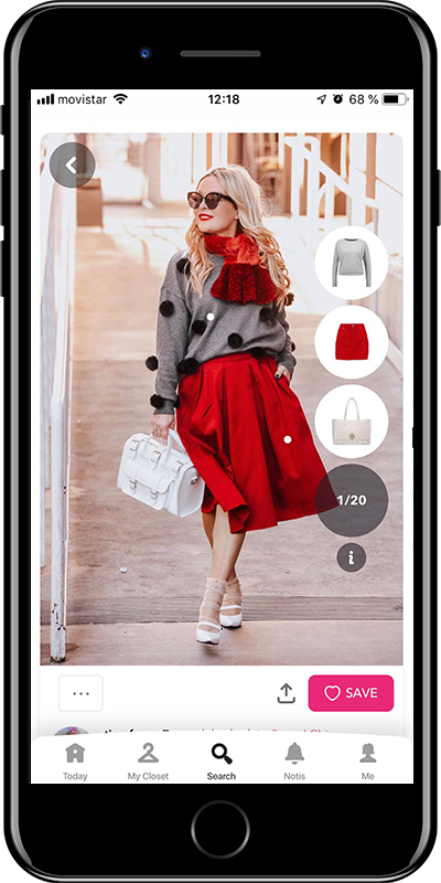 A article of colour from Chicisimo outfit planner app