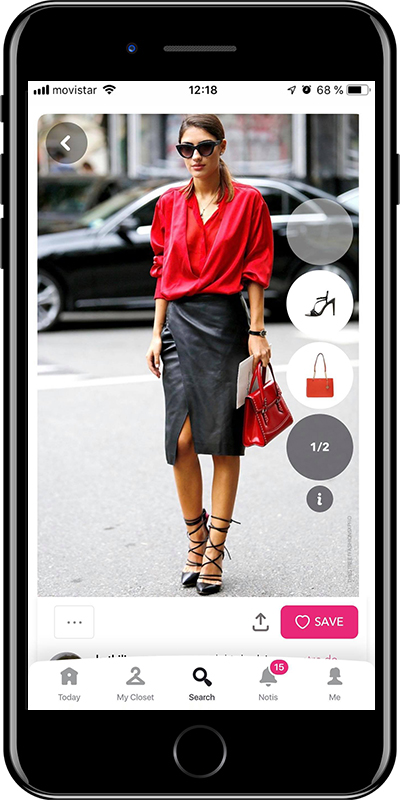 A basic knee-lenght skirt every woman needs to have in her wardrobe from Chicisimo outfit planner app