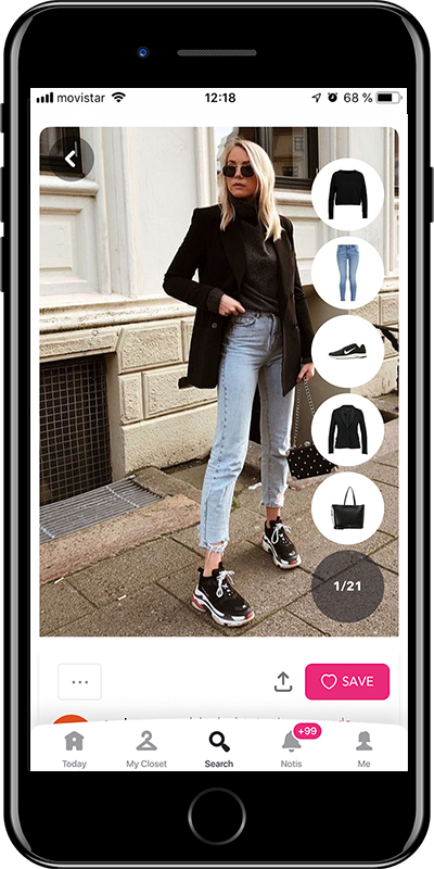 A pair of basics jeans every woman needs to have in her wardrobe from Chicisimo outfit planner app