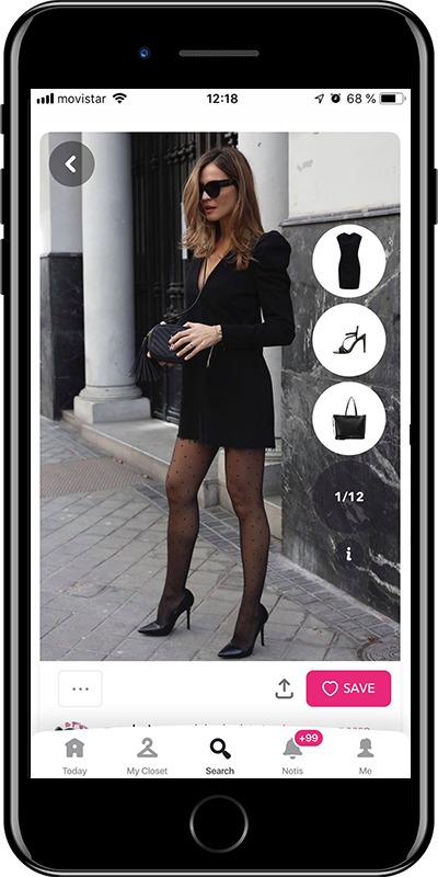 A basic party dress every woman needs to have in her wardrobe from Chicisimo outfit planner app