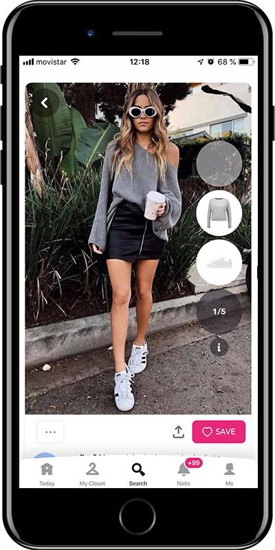Outfit with white sneakers from Chicisimo outfit planner app