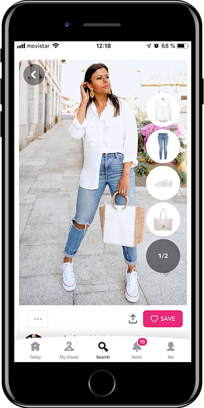 A basic white shirt every woman needs to have in her wardrobe from Chicisimo outfit planner app