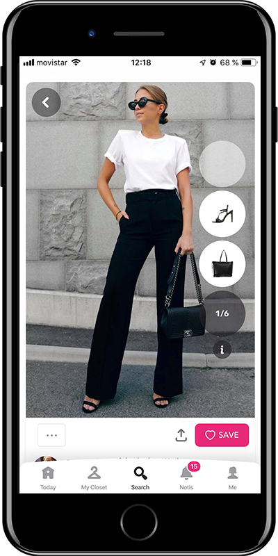 A basic white tee every woman needs to have in her wardrobe from Chicisimo outfit planner app