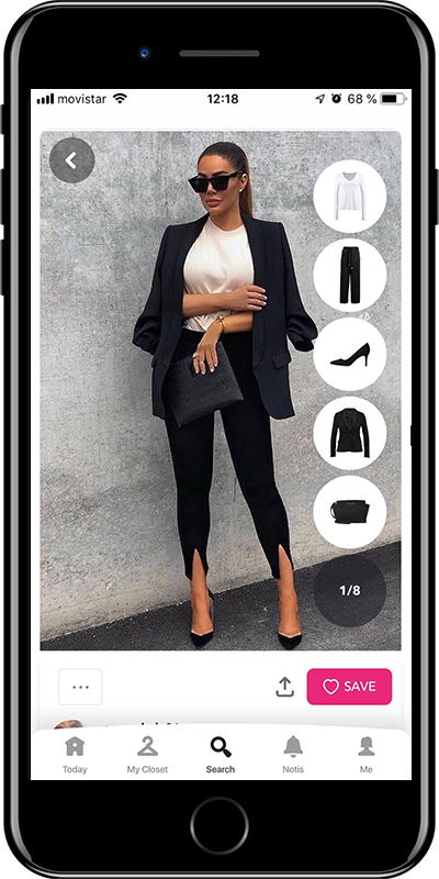 Outfit with a clutch from Chicisimo outfit planner app