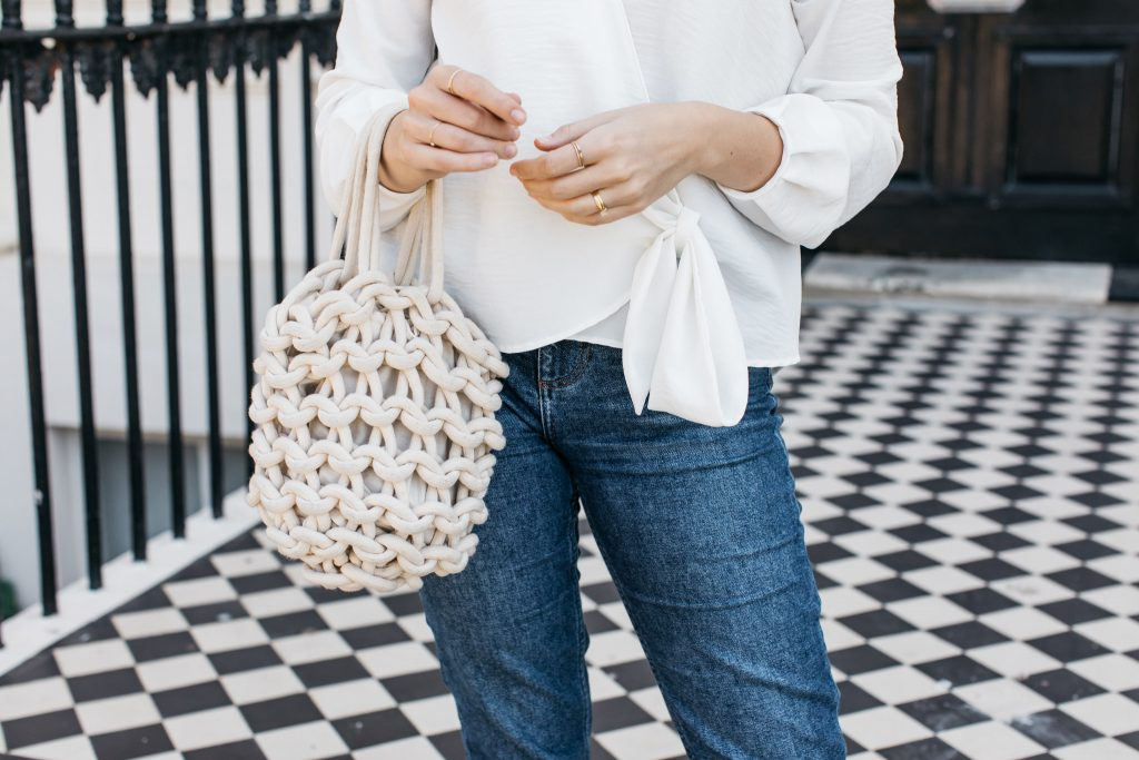 Natural fabric bags to wear on summer