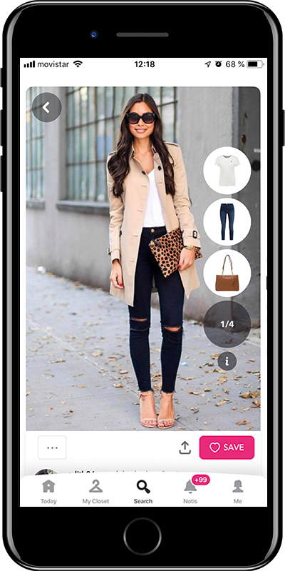Outfit with animal print bag by Chicisimo fashion planner app