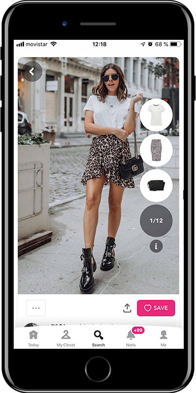 Outfit with animal print skirts by Chicisimo fashion planner app