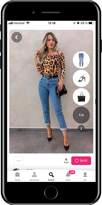 Night out outfit by Chicisimo fashion planner app