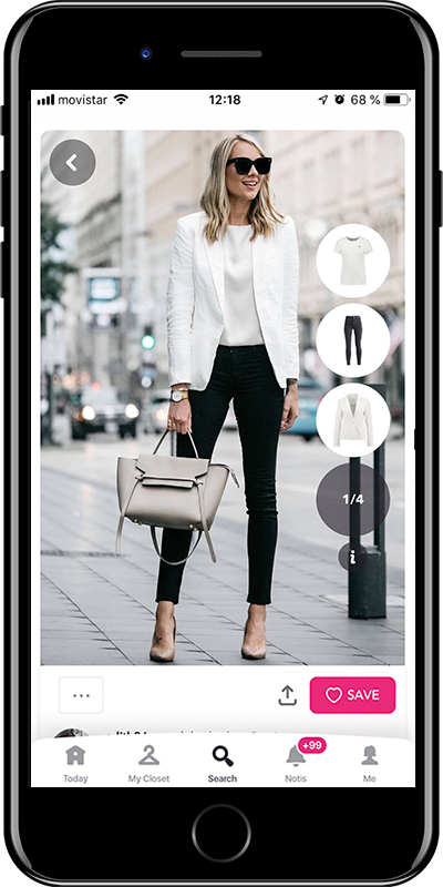 A elegant outfit for a business dinner by Chicisimo fashion planner app