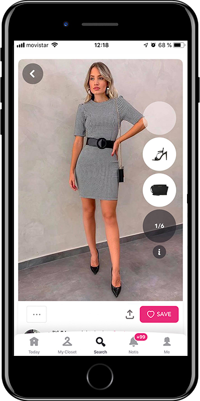 A mini dress for a business dinner by Chicisimo fashion planner app