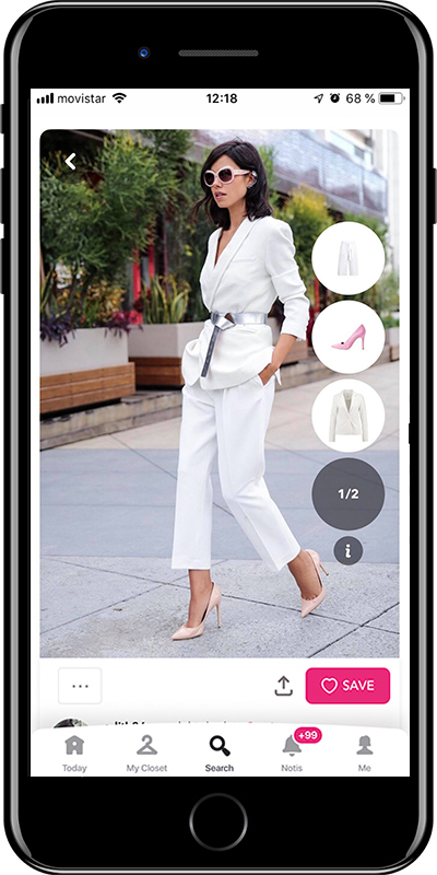 A white outfit for a business dinner by Chicisimo fashion planner app