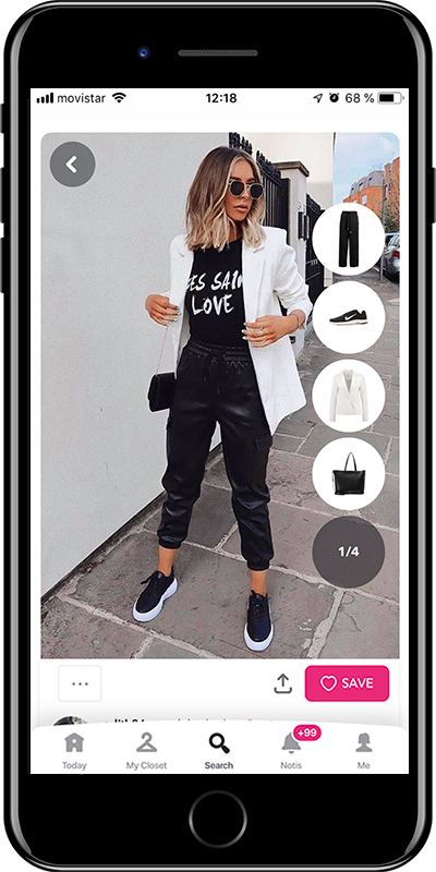 Outfit wearing leather pants and sneakers from Chicisimo