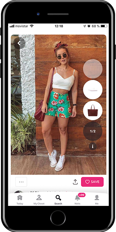 A basic summer outfit with crop top from Chicisimo fashion app