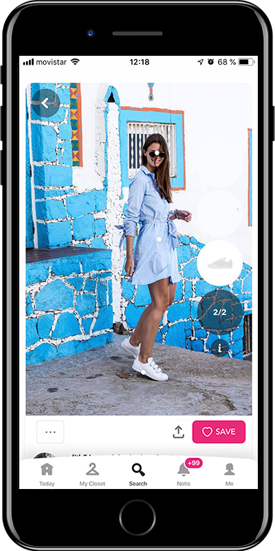 A basic summer outfit with a shirt dress from Chicisimo fashion app