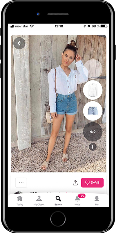 A basic summer outfit with shorts from Chicisimo fashion app