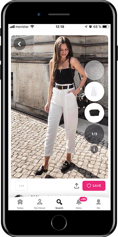 A basic summer outfit with white jeans from Chicisimo fashion app