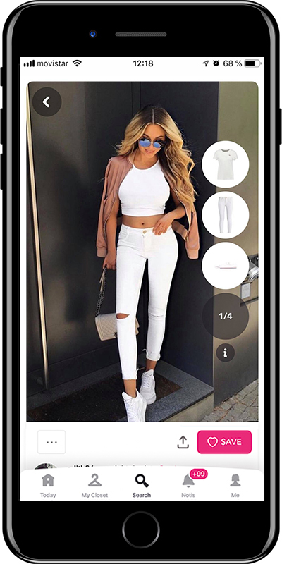 Total white outfit from Chicisimo