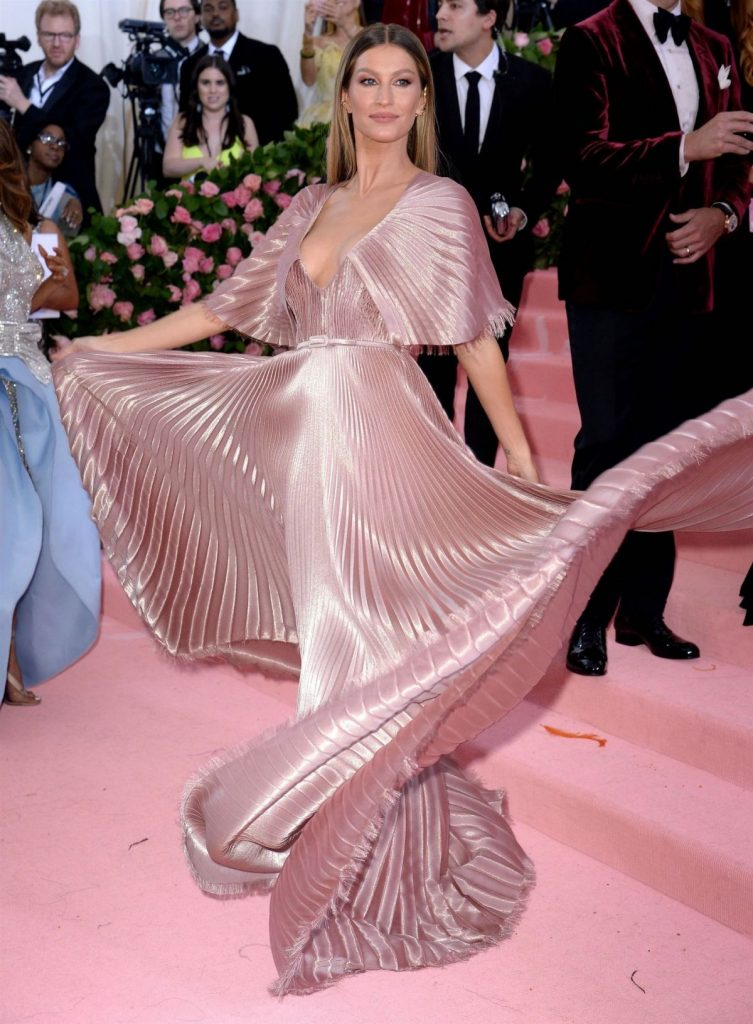 Gisele Bundchen wearing a Dior dress for the MET gala
