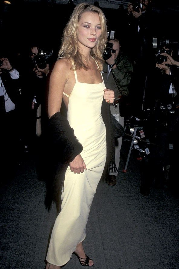Kate Moss wearing a Calvin Klein dress for the MET gala