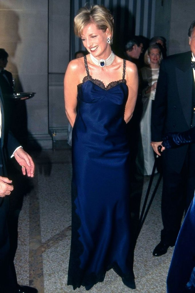 Princess Diana wearing a Dior dress for the MET gala