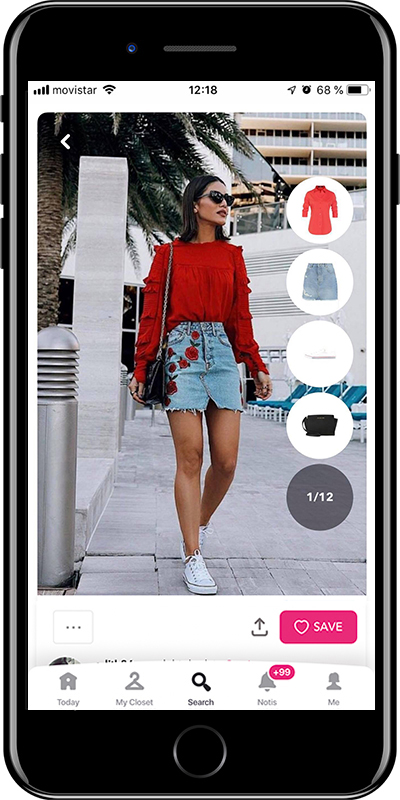 Stylish girl wearing the perfect denim skirt by Chicisimo outfit planner app