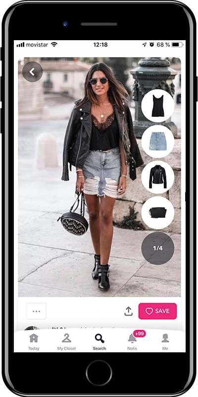 Girl rocking a denim skirt by Chicisimo outfit planner app