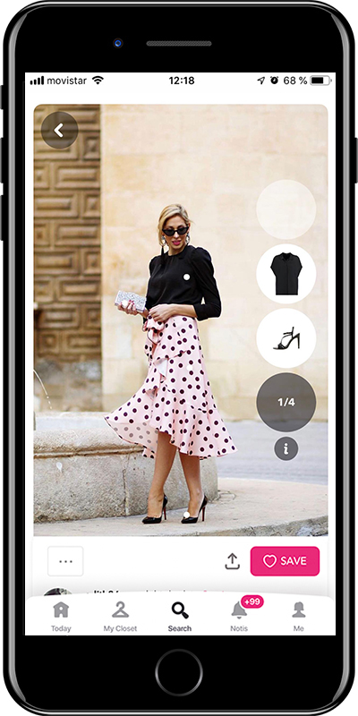 Wear a dotted skirt if you don't know what to wear for a graduation