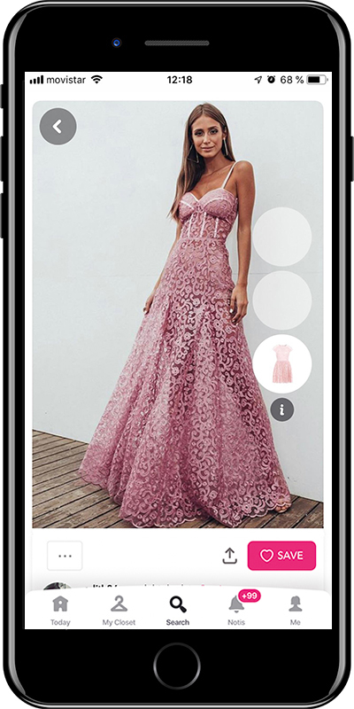 Girl wearing a lace dress by Chicisimo fashion planner app