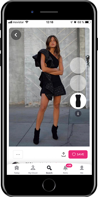 Girl wearing a LBD by Chicisimo fashion planner app