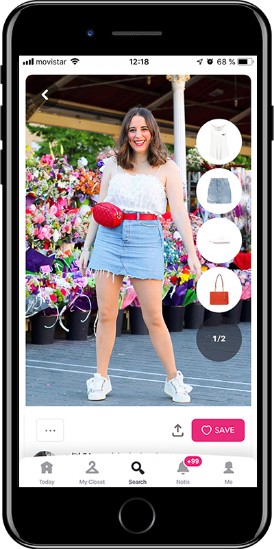 Outfit with a beltbag by Chicisimo planner app