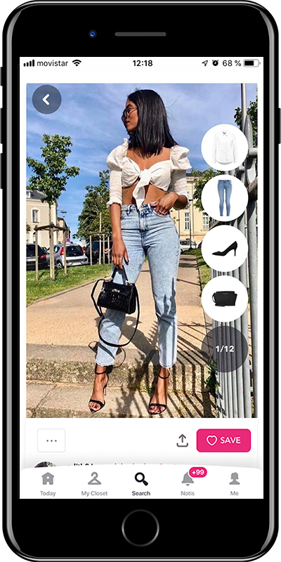 A white croptop outfit by Chicisimo outfit planner app