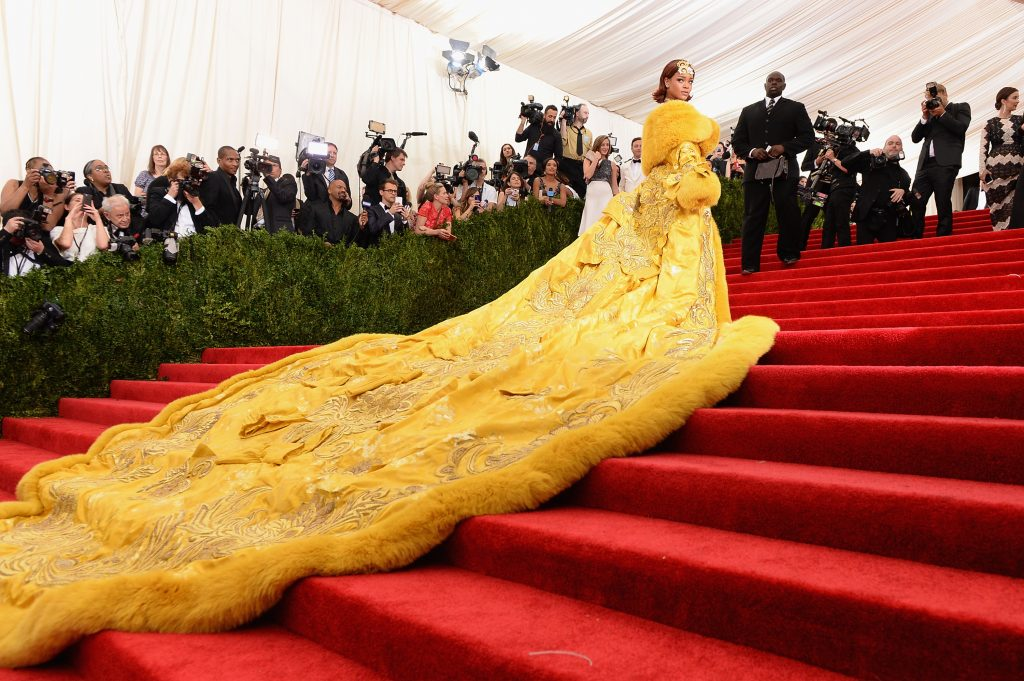 Rihanna in a Guo Pei dress