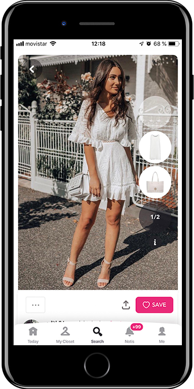Girl wearing a white dress by Chicisimo fashion planner app