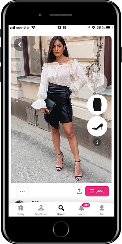 A elegant night out outfit by Chicisimo outfit planner app