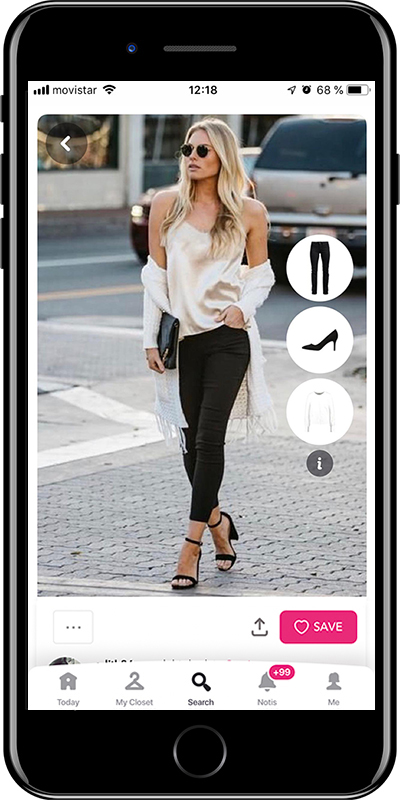 A chic night out outfit by Chicisimo outfit planner app