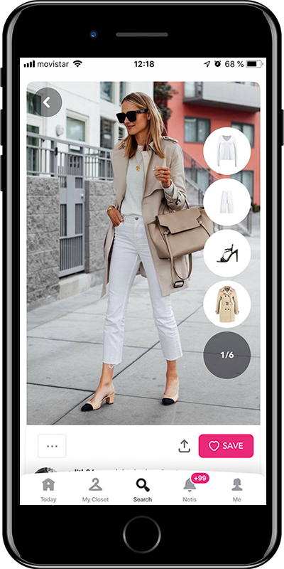 Girl wearing a total white look by Chicisimo fashion planner app