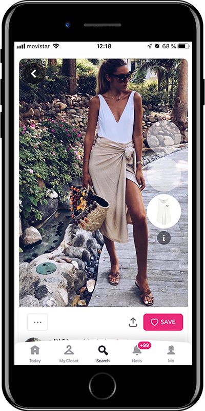 Girl with a scarf like a skirt for the beach is a way to wear a scarf by Chicisimo fashion planner app