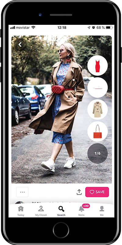 Girl wearing a basic trench with a midi dress by Chicisimo fashion planner app
