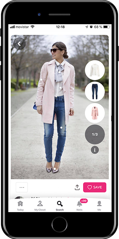 Girl with a scarf like a bow is a way to wear a scarf by Chicisimo fashion planner app