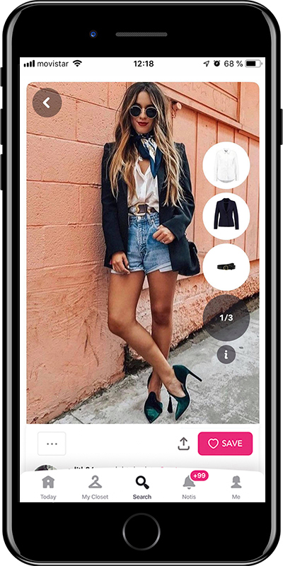 Girl wearing a stylish outfit with scarf by Chicisimo fashion planner app