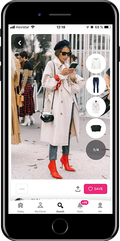 Girl wearing a basic trench with style by Chicisimo fashion planner app