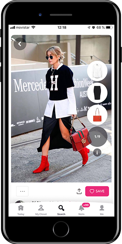 Girl wearing layers from Chicisimo fashion planner app